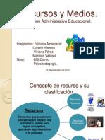 Diapositiva Recursos y Medios