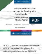 Social Media Policy Presentation