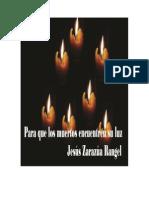 Para Que Los Muertos Encuentren Su Luz Libro