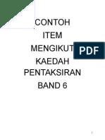 Contoh Item Kaedah Pentaksiran Band 6