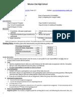 geometry syllabus 2014
