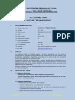 Silabo Costos y Presupuestos UPT 2013-Ext