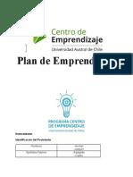 Informe Final Plan de Emprendizaje Pae 2014 Beneficiarios