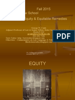 Ch.2.Equity.part.1.Fall.2014Remedies - Ch. Equity and Equitable Defenses