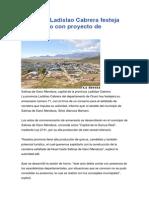 Provincia Ladislao Cabrera Festeja Aniversario Con Proyecto de Asfaltado