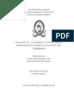 Evaluacion de Las Variables de Secado Para La Conservacion de Las Hojas de La Planta de Añil