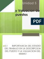 U5 Analisis y Valuacion de Puestos PRESENTACION