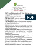 Edital Ifs Cursos Tecnicos 2014