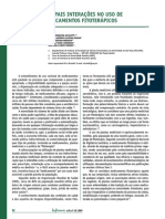 Principais Interações No Uso de Medicamentos Fitoterápicos