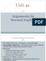 Arguments in Normal English