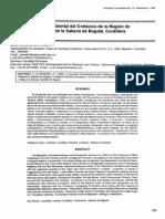 La sucesren Paleoa nbiental del cretaclco de la Region de Tequendama y Oeste de la Sabana de Bogota, Cordillera Oriental Colombiana