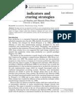 Paper. Lean Indicators and Manufacturing Strategies