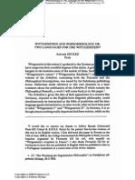 Soulez, A. 1989, Wittgenstein & Phenomenology or