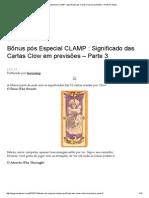 Bônus Pós Especial CLAMP _ Significado Das Cartas Clow Em Previsões – Parte 3 _ Nipop