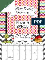 author study calendar