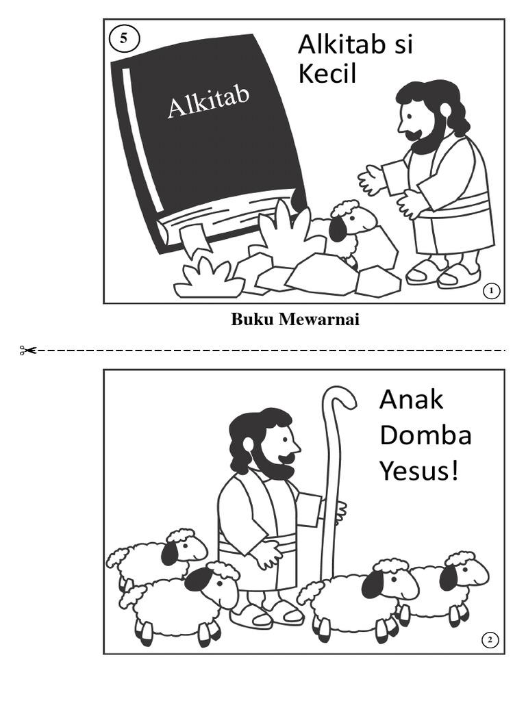 Anak Domba Yesus Buku Mewarnai
