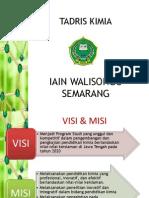 VISI MISI Dan Beberapa Data PRODI KIMIA Unt Alumni - Akreditassi 2013