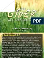 The Giver Who Pleases God