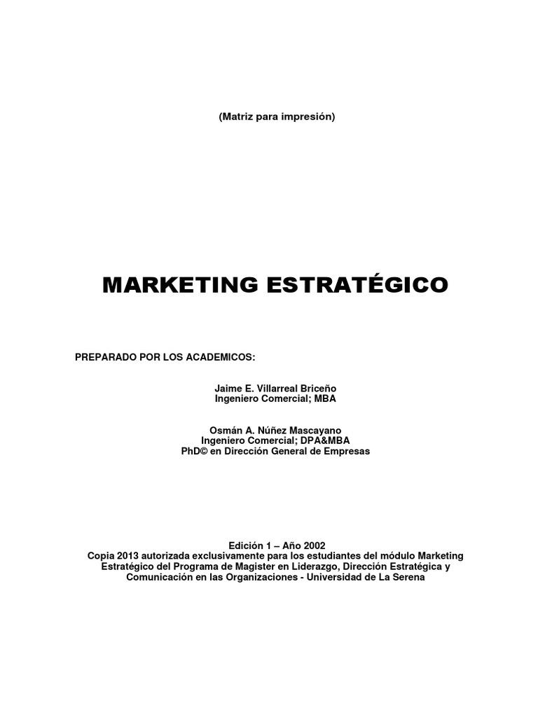 Texto Mkt Estrategico _J Villarreal O Núñez