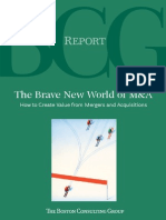 BCG - Brave New World_How to Create Value From Mergers and Acquisitions (Aug_2007)