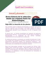 BREVE HISTORIA DE LA SELECCIÓN DESDE SUS ORÍGENES HASTA LAS BIOTECNOLOGÍAS.docx