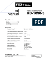 Rotel RB-1090 Service Manual