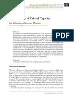 Boltanski e Thévenot - The Sociology of Critical Capacity (2000)
