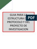 Guia Para La Estructura Del Protocolo y Del