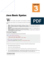 Java Basic Syntax