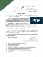 BSNL Order on 78-2 Percentage IDA Merger 11-06-13