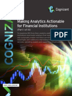 Making Analytics Actionable for Financial Institutions (Part I of III)