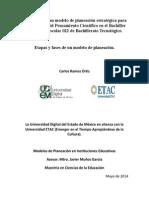 Aplicación de Un Modelo de Planeación Estratégica Para El Desarrollo Del Pensamiento Científico en El Bachiller de La Zona Escolar 022 de Bachillerato Tecnológico