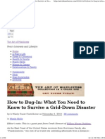 36 How to Bug-In What You Need to Know to Survive a Grid-Down Disaster