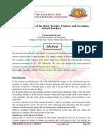Teaching Atitude of the B.Ed. Teacher Traines and Secondary Schol Teachers