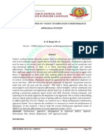 """A RESEARCH PAPER ON """"STUDY OF EMPLOYEE'S PERFORMANCE  APPRAISAL SYSTEM"""""""