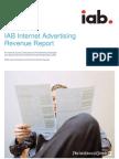 IAB Ad Revenue Six Month 2009