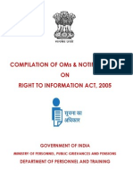 Compilation of Office Memorandums & Circulars  on  Right to Information issued by DOPT