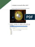 Cara Instalasi Microsoft Office 2007