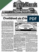 1929 Nr. 9, Deutschland Als Sündenbock; Ludendorffs Volkswarte, A3 Format