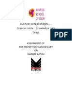 Assignment on B2B Marketing by Ajay Mishra..