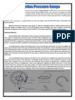 Bourdon Tube and principle