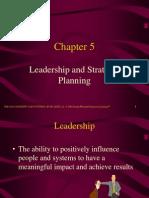 Chp- 5 Leadership and Strategic Planning