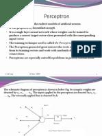 perceptons neural networks
