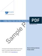 Indian Salon Hair and Skin Products Industry Report