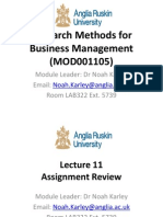 Lecture 11 Assignment Review