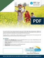 SBI LIFE INSURANCE - GrameenBima Brochure
