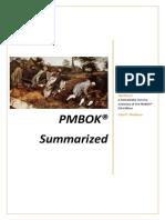 PMBOK Summarized