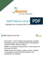DDoS Attack Threats | SNMP Reflection Threat Advisory | Akamai Presentation