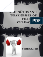 Strengths and Weaknesses of Filipino Character