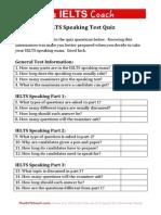 IELTS Speaking Quiz
